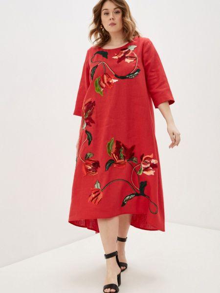 Платье - красное Yukostyle