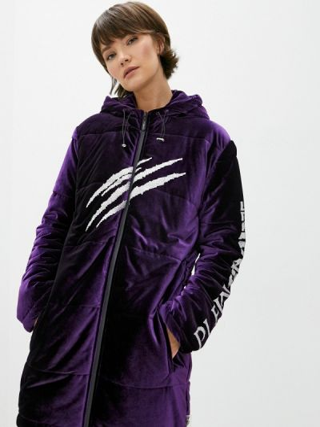 Фиолетовая теплая спортивная куртка Plein Sport