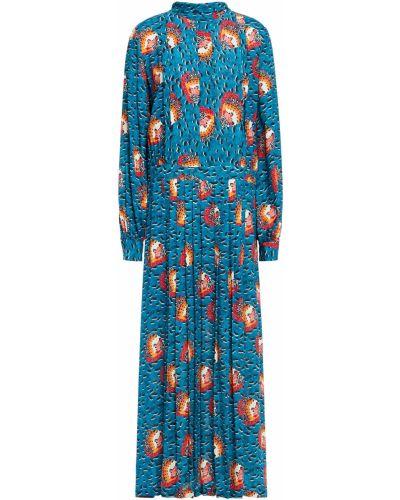 Плиссированное платье макси из крепа на пуговицах Stella Jean
