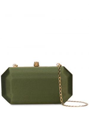 Кожаная зеленая кожаная сумка с подкладкой Tyler Ellis
