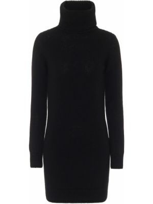 Теплое платье платье-свитер черное Saint Laurent