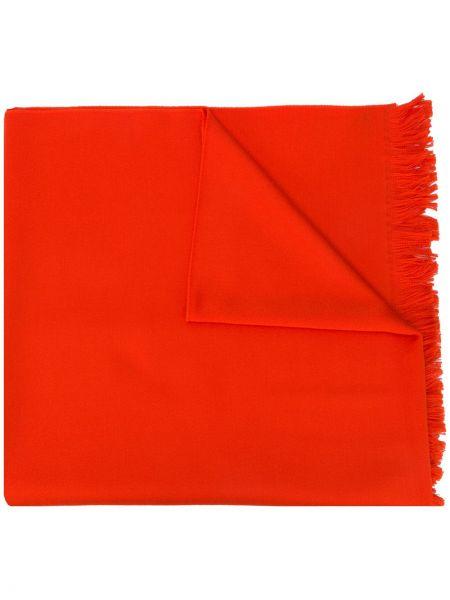 Pomarańczowy wełniany szalik przycięte Gucci