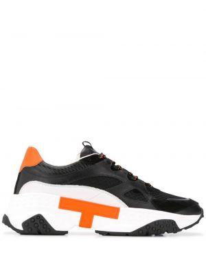 Кроссовки черные на шнуровке Tods