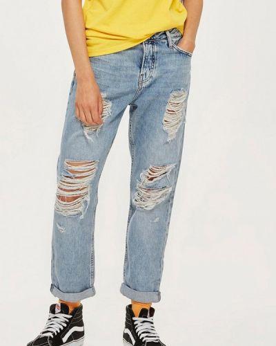 Голубые джинсы бойфренды Topshop
