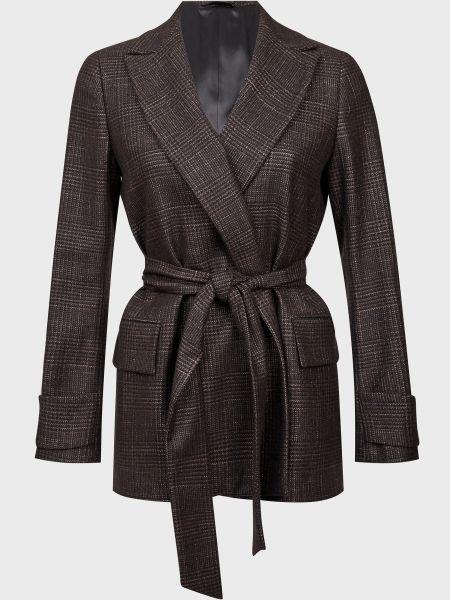 Шелковый коричневый пиджак с подкладкой Kiton