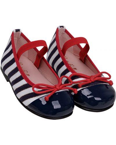 Кожаные синие туфли Pretty Ballerinas