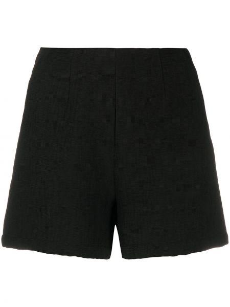 Черные шорты с карманами из вискозы L'autre Chose