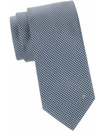 Шелковая резинка для волос - синяя Brioni