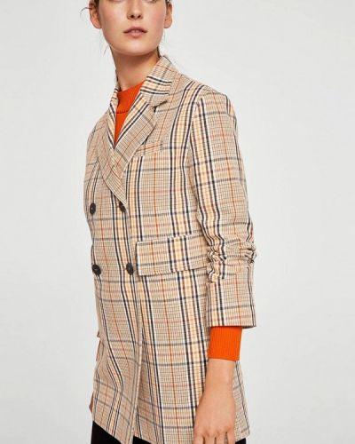 Бежевое пальто весеннее Mango