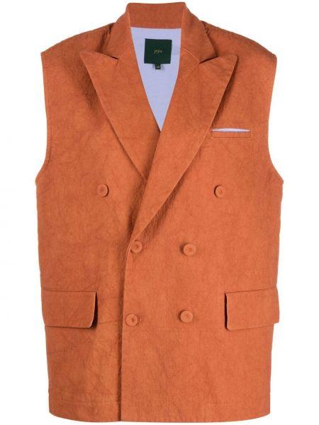 Пиджак двубортный без рукавов с воротником Jejia