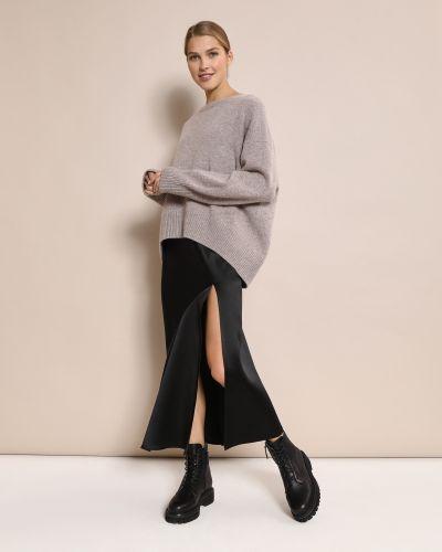 Шелковая черная юбка с разрезом 12storeez
