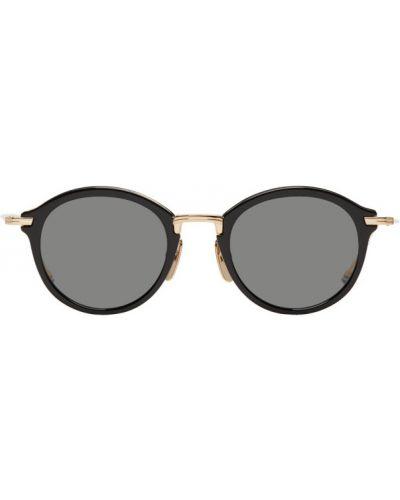 Солнцезащитные очки черные титановые Thom Browne