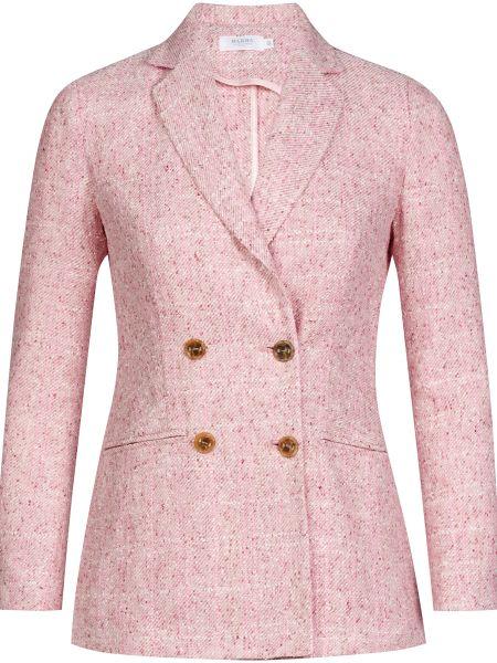 Хлопковый розовый пиджак на пуговицах Barba Napoli