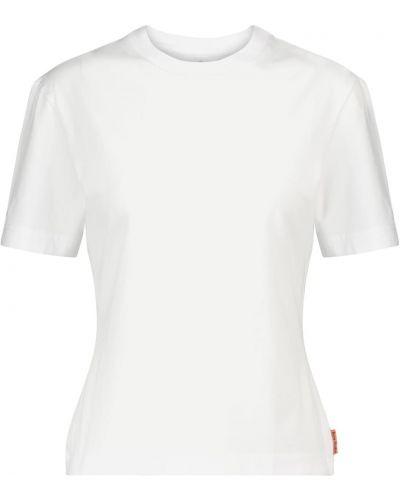 Облегающая хлопковая белая классическая рубашка Acne Studios