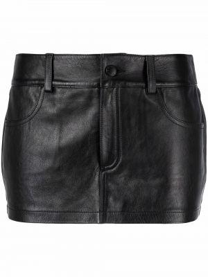 Кожаные шорты - черные Alexander Wang