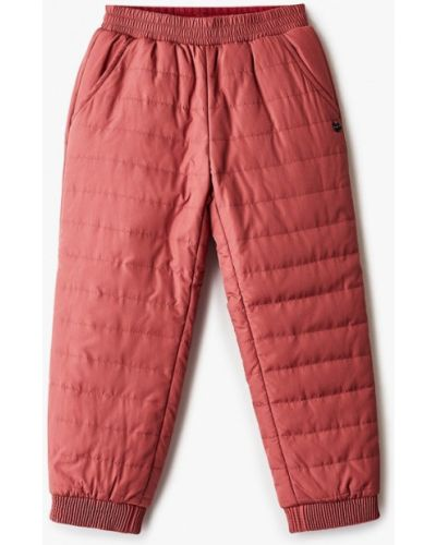 Бордовые теплые брюки Baon