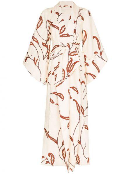 Платье с поясом кимоно с лацканами Johanna Ortiz