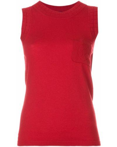 Блузка без рукавов винтажная с цветочным принтом Chanel Vintage