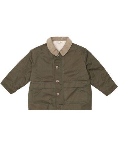Ватная акриловая зеленая куртка с воротником Caramel