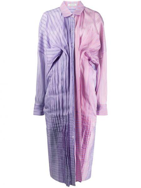 Платье миди на пуговицах плиссированное Nina Ricci