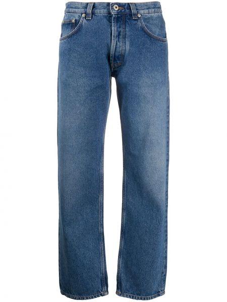 Прямые джинсы с вышивкой синие Loewe