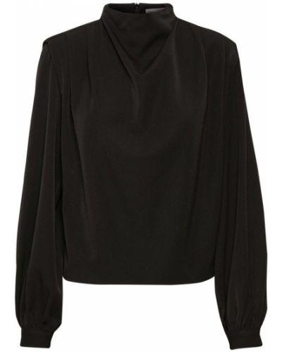 Czarna bluzka z długimi rękawami Gestuz