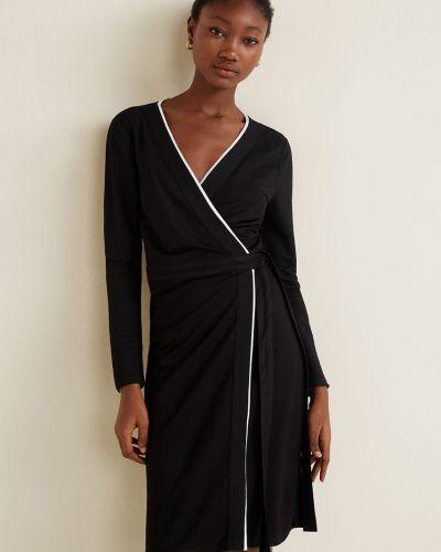 Платье мини длинное трикотажное Mango