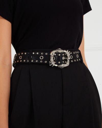 Черный кожаный ремень с пряжкой Maison Bohemique