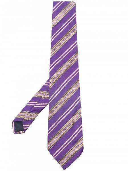 Krawat z jedwabiu - fioletowy Trussardi