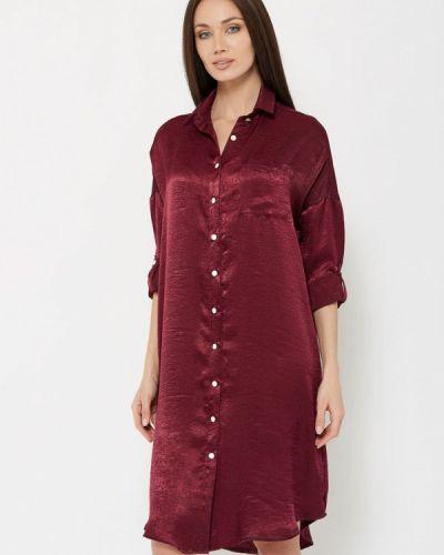 Платье миди бордовый красный Katerina Bleska & Tamara Savin