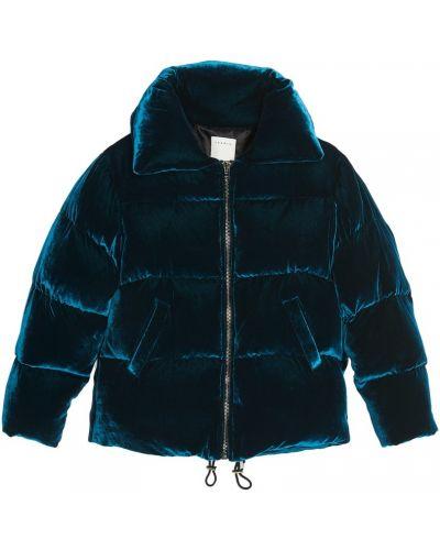 Стеганая куртка бархатная на молнии Sandro