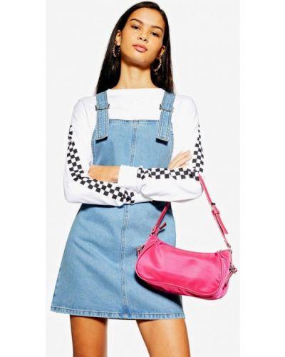 Джинсовое платье платье-сарафан весеннее Topshop