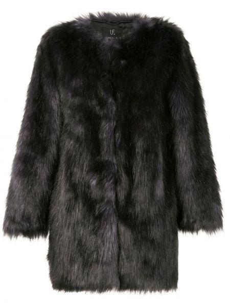 Черная шуба из искусственного меха Unreal Fur