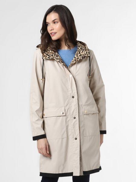Beżowy płaszcz z printem Rino & Pelle