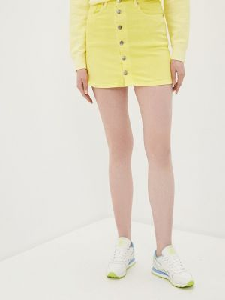 Желтая джинсовая юбка Pepe Jeans