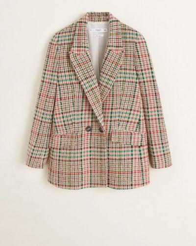 Классический пиджак прямой шерстяной Mango