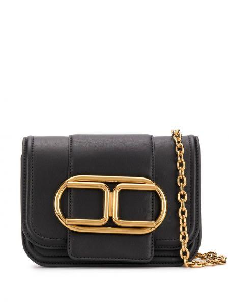 Złota czarna torebka na łańcuszku Elisabetta Franchi