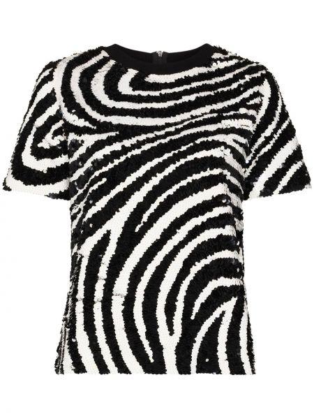 Хлопковая черная рубашка с нашивками Ashish