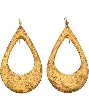 Żółte złote kolczyki sztyfty Evocateur