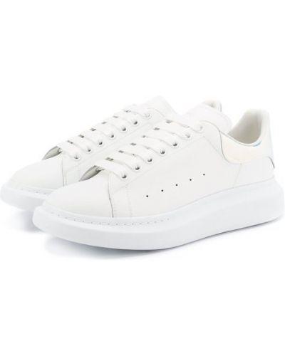 Белые кеды кожаный Alexander Mcqueen