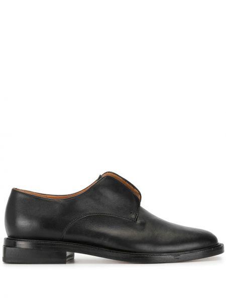 Туфли на каблуке черные на низком каблуке Robert Clergerie