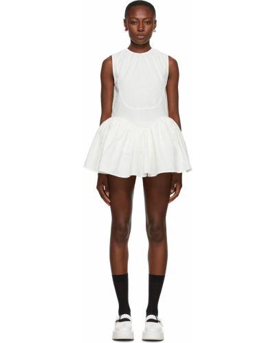 Biała sukienka mini bawełniana bez rękawów Shushu/tong