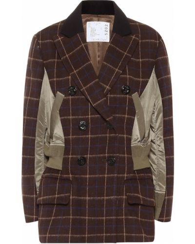 Шерстяная куртка - коричневая Sacai
