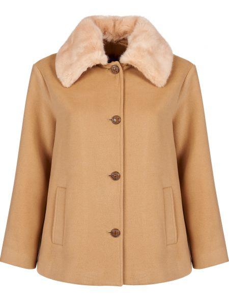 Пальто из вискозы - бежевое Trussardi Jeans