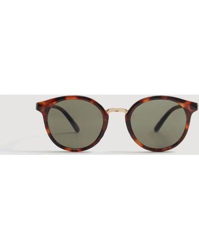 Солнцезащитные очки круглые стеклянные Mango Man