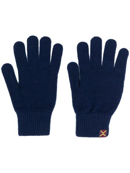 Niebieskie rękawiczki wełniane Ps Paul Smith