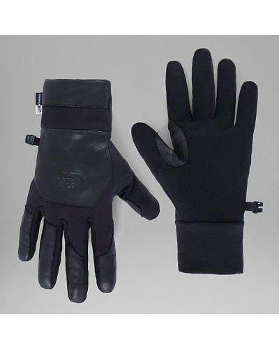 Черные кожаные перчатки The North Face