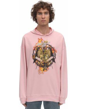 Prążkowana różowa bluza z kapturem Klsh - Kids Love Stain Hands