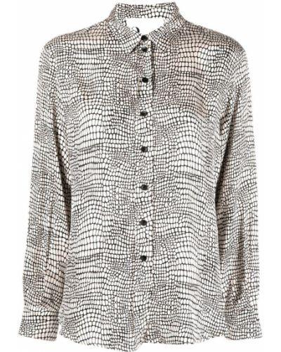Классическая рубашка с воротником на пуговицах из вискозы 8pm