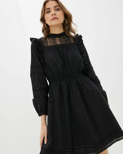 Прямое черное платье А-силуэта Q/s Designed By